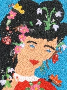 Mozaic realizat de elevii Structurii Școlare Nou